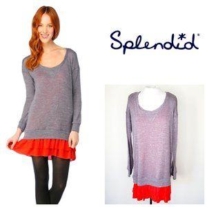 SPLENDID USA Layered Sweater Cotton/Rayon Dress